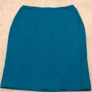 Turquoise blue Halogen skirt